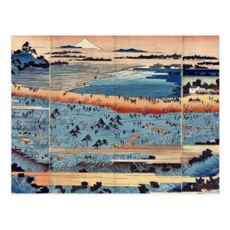 A complete view of Asukayama by Ando, Hiroshige Postcard