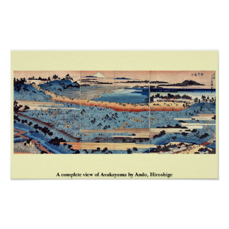 A complete view of Asukayama by Ando, Hiroshige Print