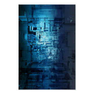 a complex corridor of multidimensional proportions poster