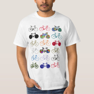 a composition of colorful bicycles T-Shirt