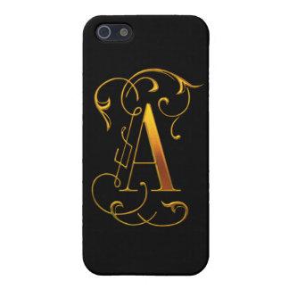 A con monograma de lujo iPhone 5 fundas