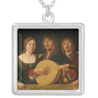 A Concert 2 Square Pendant Necklace