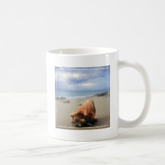 A Conch Shell On The Beach   St. Croix, Usvi Coffee Mug