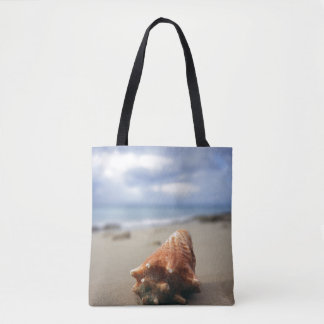 A Conch Shell On The Beach | St. Croix, Usvi Tote Bag