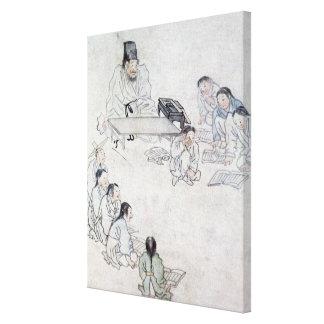 A Confucian Classroom (Sodang) (colour print) Canvas Print