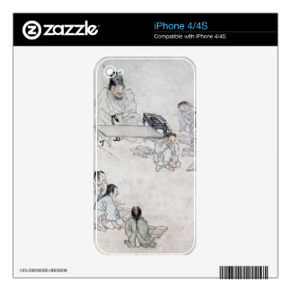 A Confucian Classroom (Sodang) (colour print) Skin For The iPhone 4
