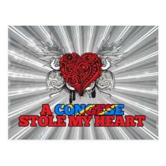 A Congese Stole my Heart Postcard