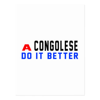 A Congolese Do It Better Postcards