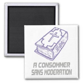 A consommer sans modération Lilas Gris 2 Inch Square Magnet
