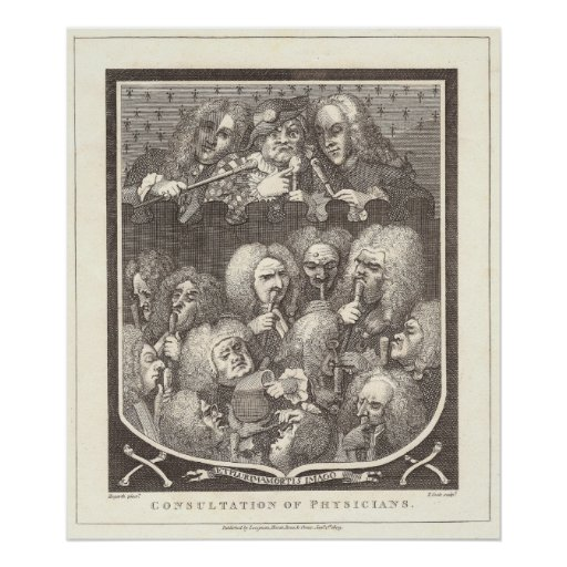 A Consultation of Physicians by William Hogarth Poster