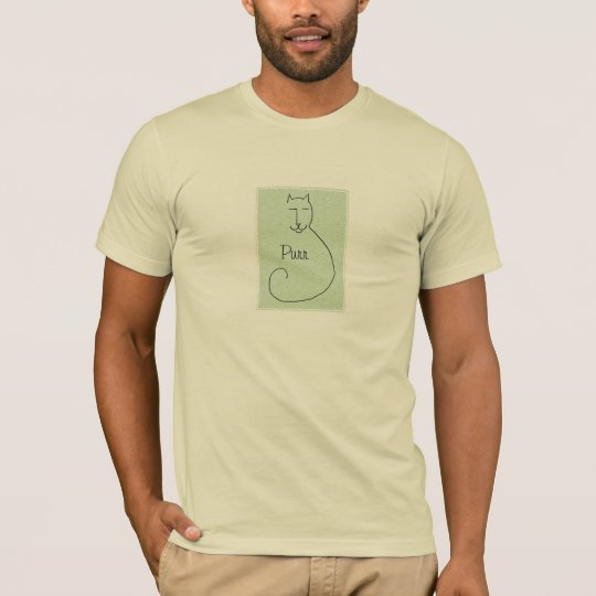 A Contented Kitty Light Colored Shirt