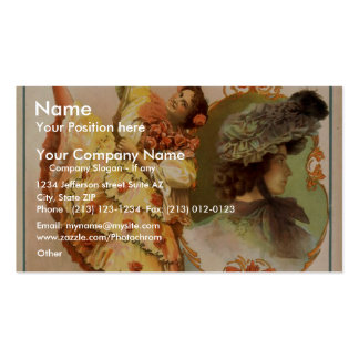 A Contented Woman, 'Bonnie Lottie' Vintage Theater Double-Sided Standard Business Cards (Pack Of 100)