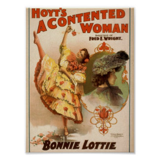 A Contented Woman, 'Bonnie Lottie' Vintage Theater Posters