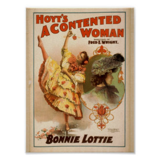 A Contented Woman, 'Bonnie Lottie' Vintage Theater Print