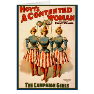 A Contented Woman Campaign Girls Card