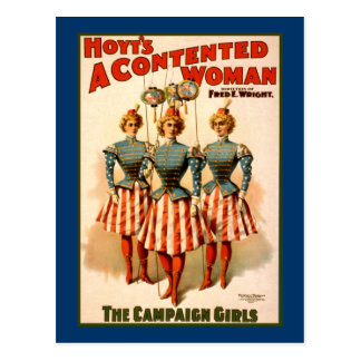A Contented Woman Campaign Girls Postcard