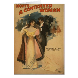 A Contented Woman Card
