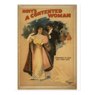 A Contented Woman Postcard