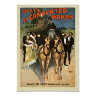 A Contented Woman Vintage Poster