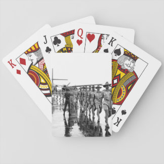 A contingent of the Royal Australian Air Force arr Playing Cards