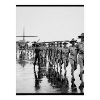 A contingent of the Royal Australian Air Force arr Poster