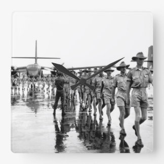 A contingent of the Royal Australian Air Force arr Square Wall Clock
