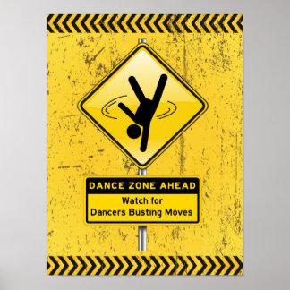 ¡A continuación-Reloj de la zona de la danza para  Póster