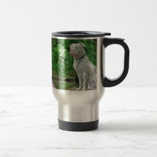 A conversation between friends stainless steel travel mug