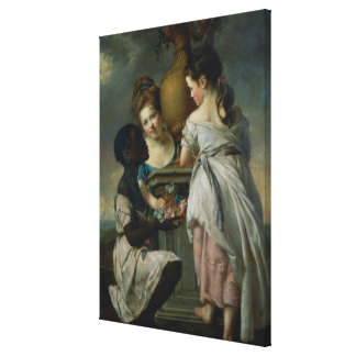 A Conversation between Girls, or Two Girls Canvas Print