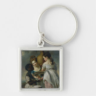 A Conversation between Girls, or Two Girls Keychain