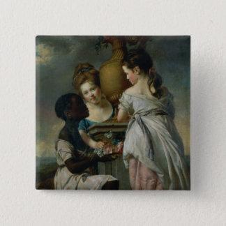 A Conversation between Girls, or Two Girls Pinback Button