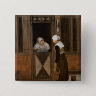 A Conversation in the Street Pinback Button