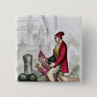 A Convict in the Toulon Penal Colony Button
