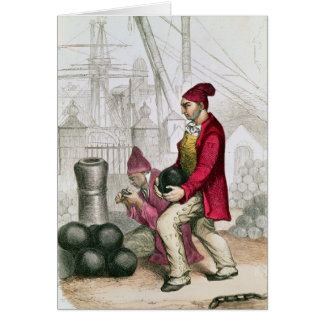 A Convict in the Toulon Penal Colony Card