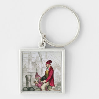 A Convict in the Toulon Penal Colony Keychain