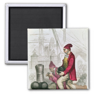 A Convict in the Toulon Penal Colony 2 Inch Square Magnet