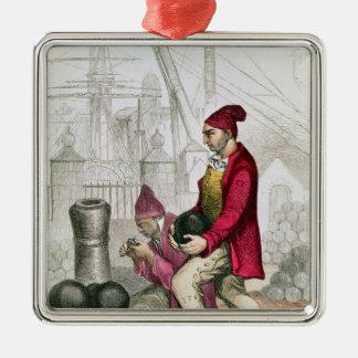 A Convict in the Toulon Penal Colony Metal Ornament