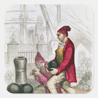 A Convict in the Toulon Penal Colony Square Sticker