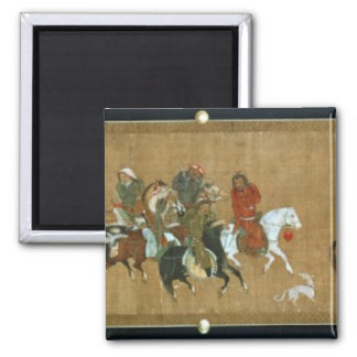 A convoy of Mongols, Chinese, 14th century 2 Inch Square Magnet