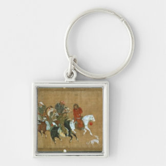 A convoy of Mongols, Chinese, 14th century Key Chain