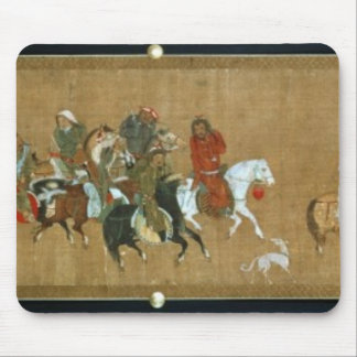 A convoy of Mongols, Chinese, 14th century Mouse Pad