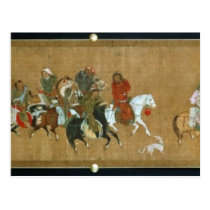 A convoy of Mongols, Chinese, 14th century Postcard