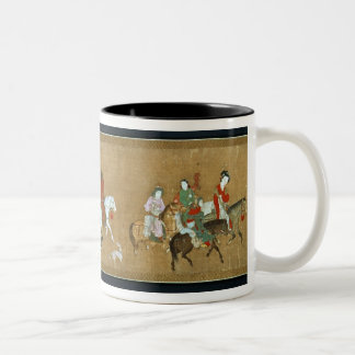 A convoy of Mongols, Chinese, 14th century Two-Tone Coffee Mug