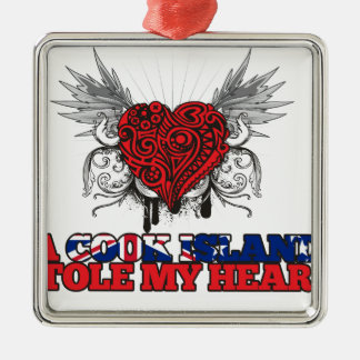 A Cook Island Stole my Heart Square Metal Christmas Ornament