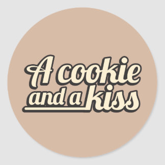 A cookie and a kiss. sticker