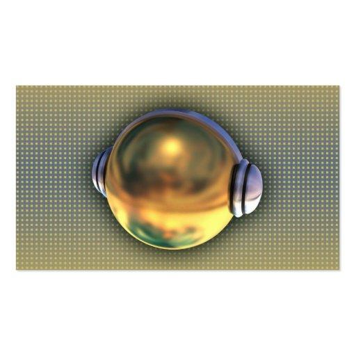 A cool 3D DJ logo business card