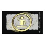 A cool 3D gold DJ logo business card