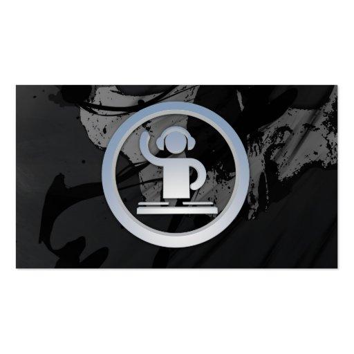 A cool cardboard DJ 3d icon business card
