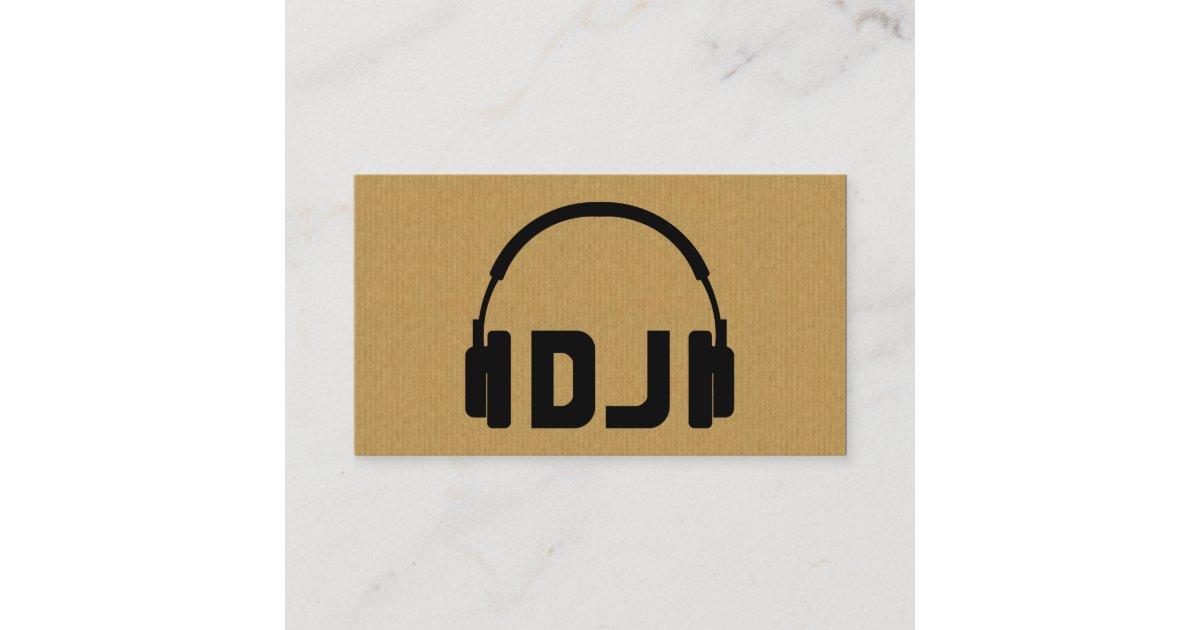 A cool cardboard DJ headphone icon business card | Zazzle.com