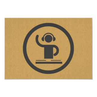 A cool cardboard DJ icon party logo Card